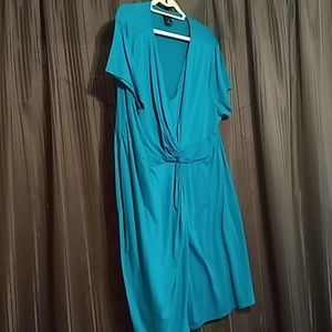 Teal knotted dress